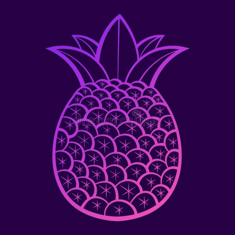 健康生活方式的夏天果子 r 传染媒介例证动画片平的象 库存例证