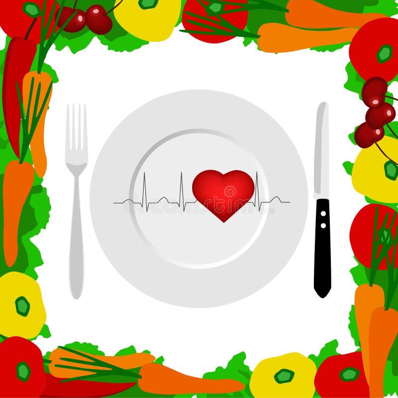 健康生活方式 健康 心电图 库存例证