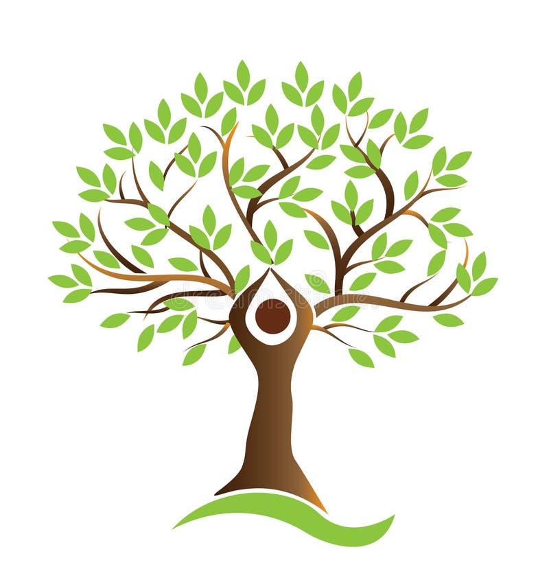 健康生活树人的标志传染媒介 皇族释放例证