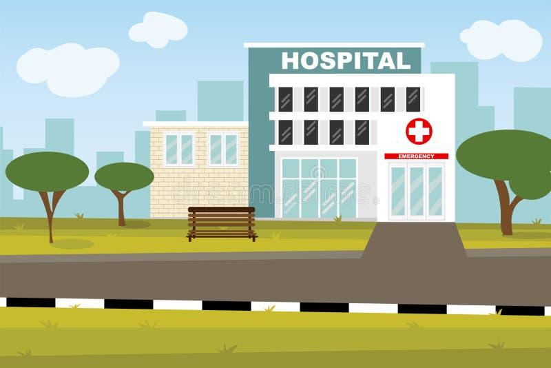 健康生活概念专业医疗中心 库存例证