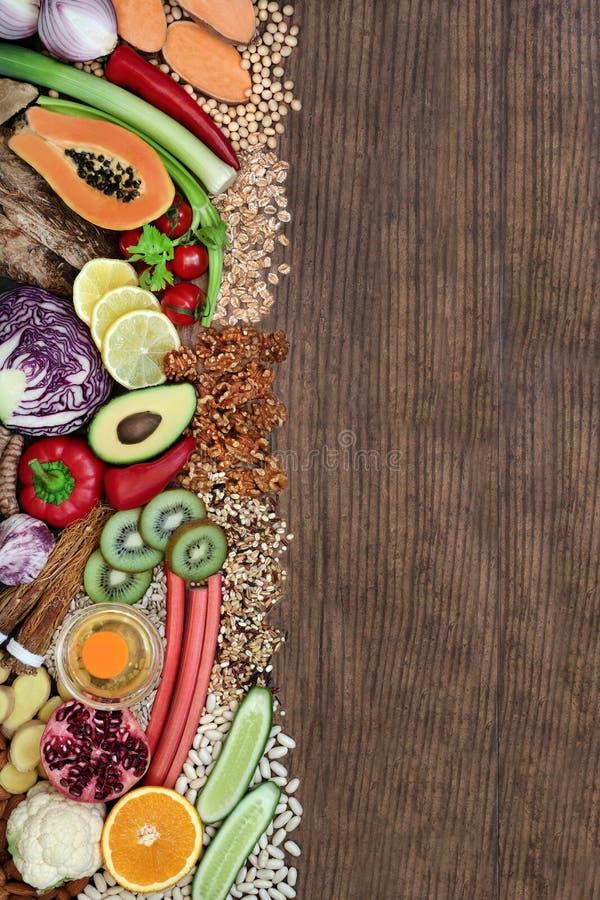 健康生活的超级食品 库存图片