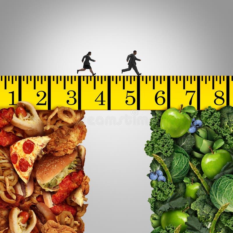 健康生活方式变动 库存例证