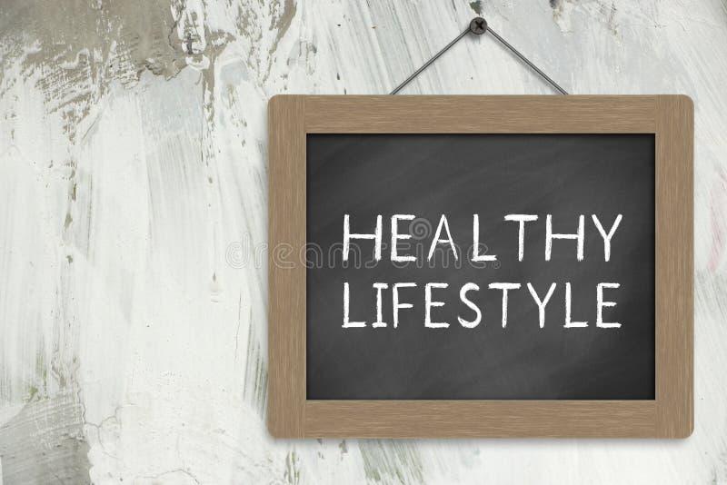 健康生活方式标志 免版税库存图片