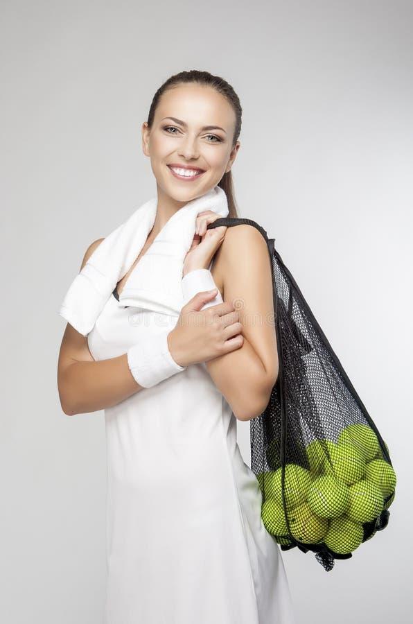 健康生活方式概念:专业Fema特写镜头画象  库存照片