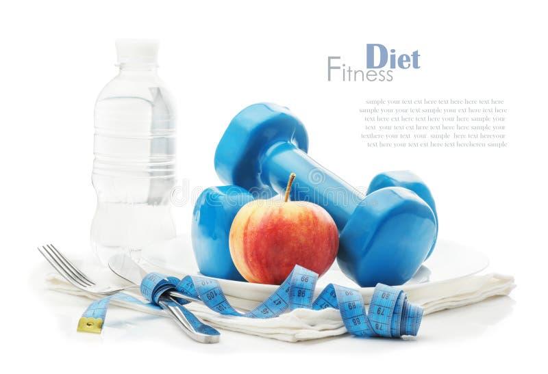 健康生活方式,饮食,体育的概念 免版税库存照片