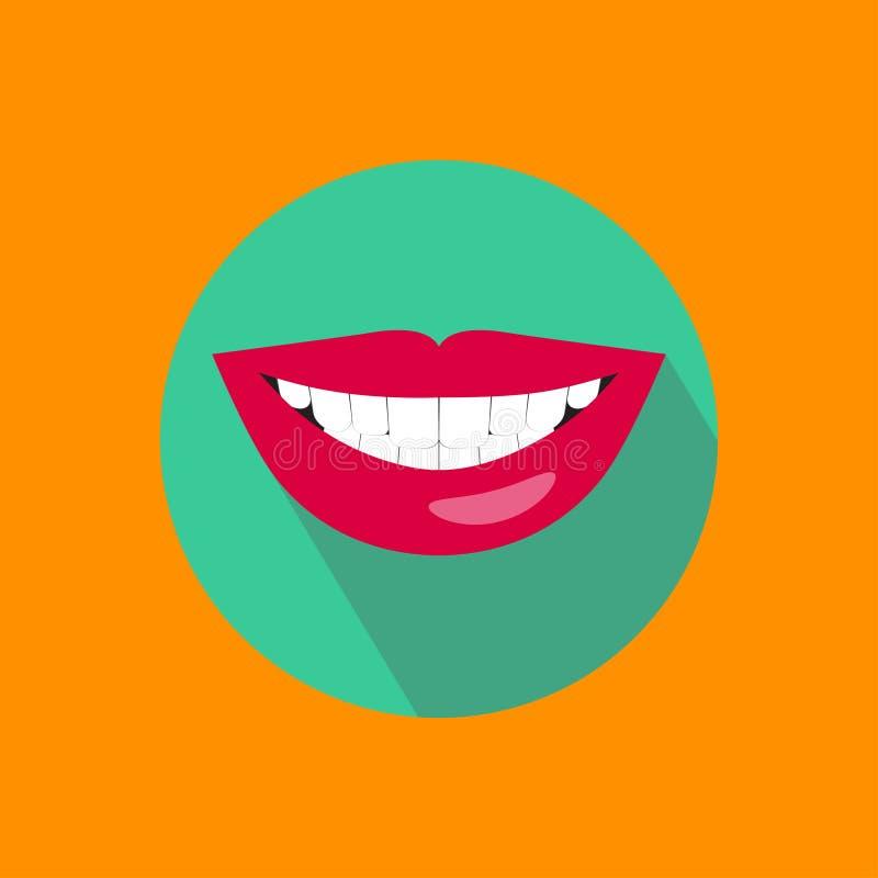 健康白色牙 库存例证