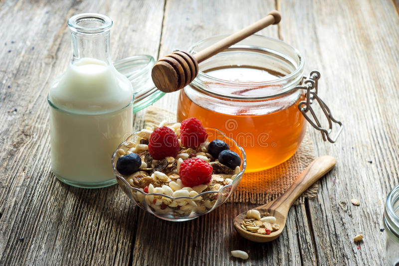 健康的早餐 库存照片