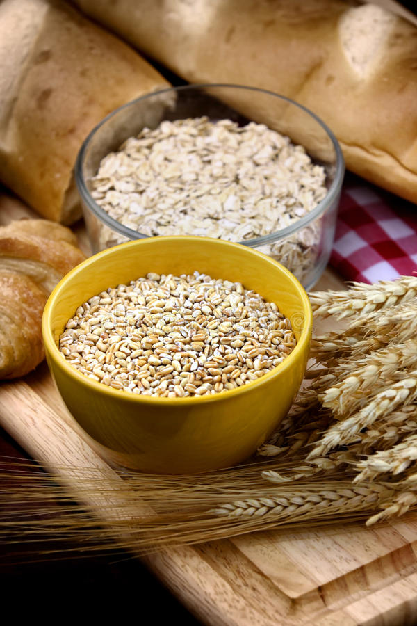 健康的食物谷类 免版税库存图片