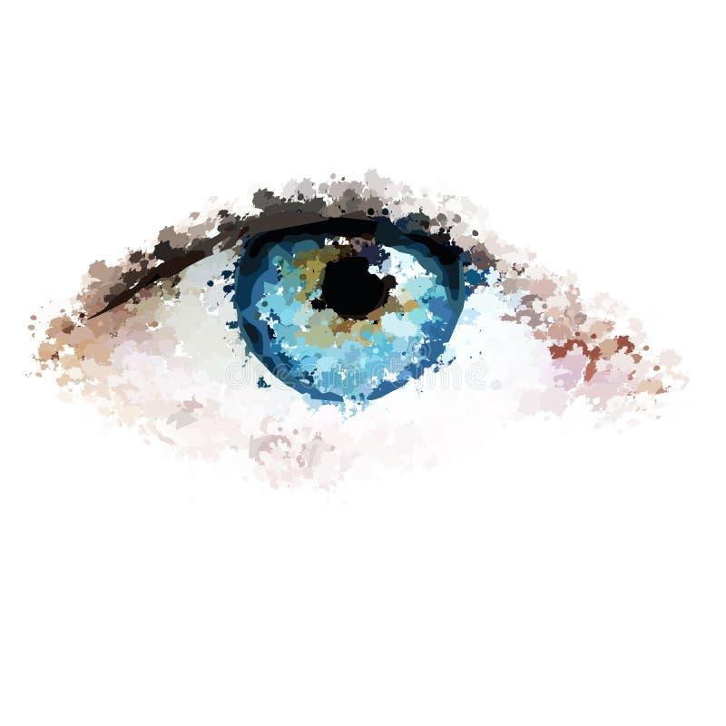 健康眼睛清洗看例证 库存例证