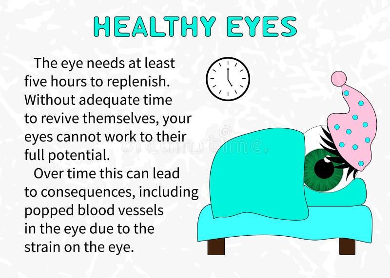 健康眼睛的需要质量休闲 库存例证