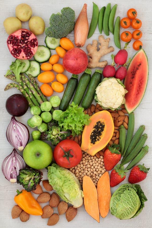 健康碱性食物选择 库存照片