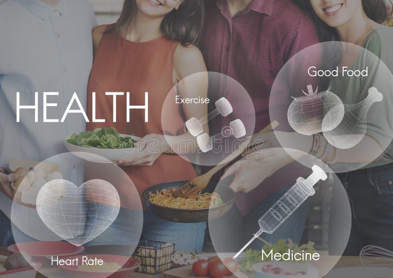 健康福利健康生命力医疗保健概念 免版税库存照片