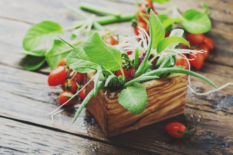 健康素食主义者食物的概念 库存图片