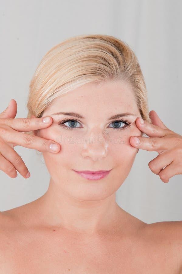 健康纯皮肤妇女年轻人 库存照片