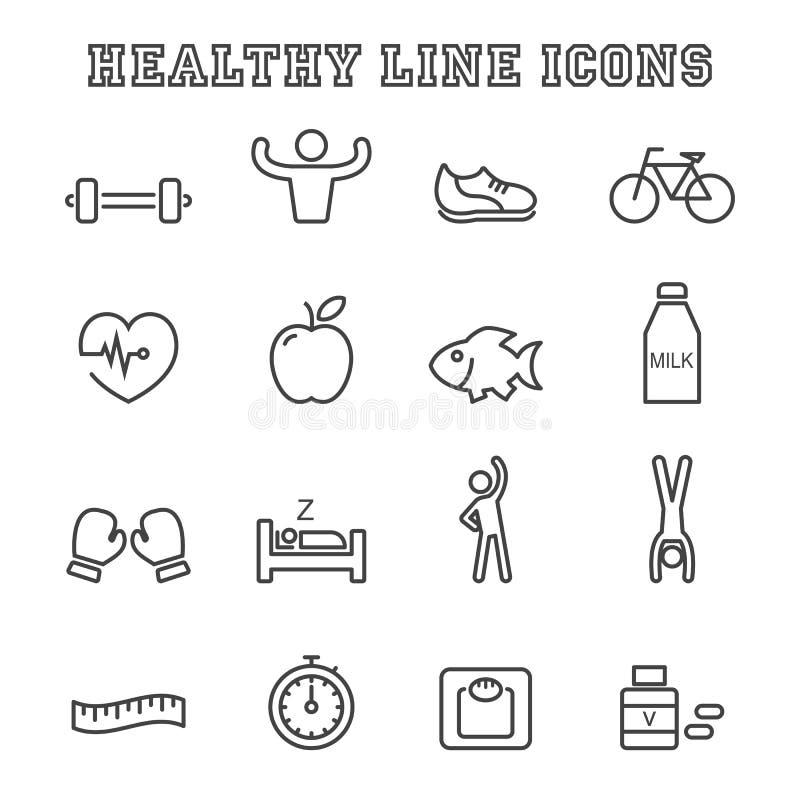 健康线象 库存例证
