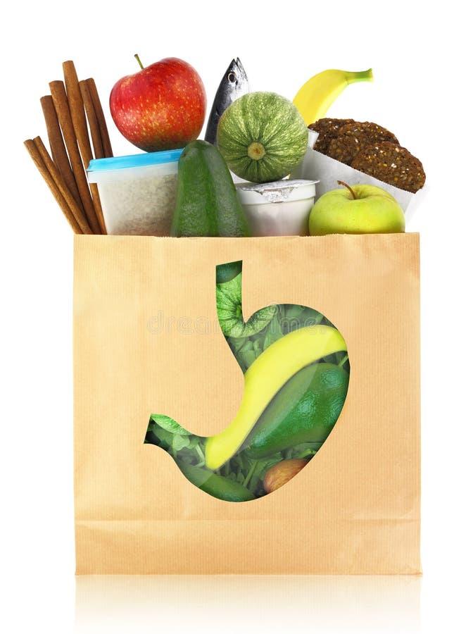 健康胃的食物 免版税库存图片