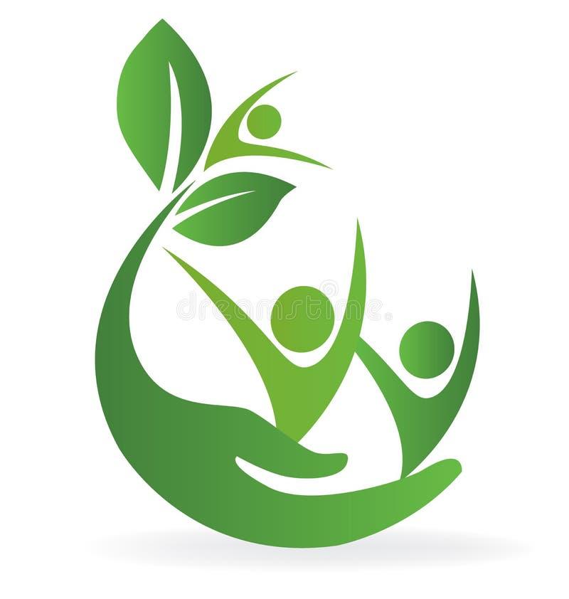 健康自然关心商标 向量例证