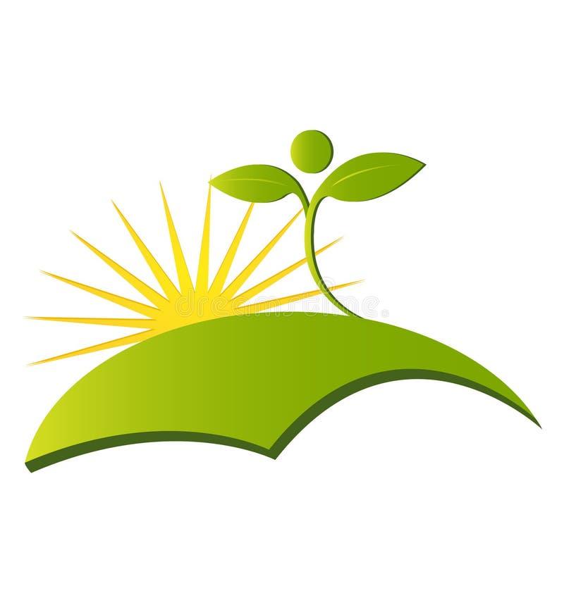 健康自然商标 库存例证