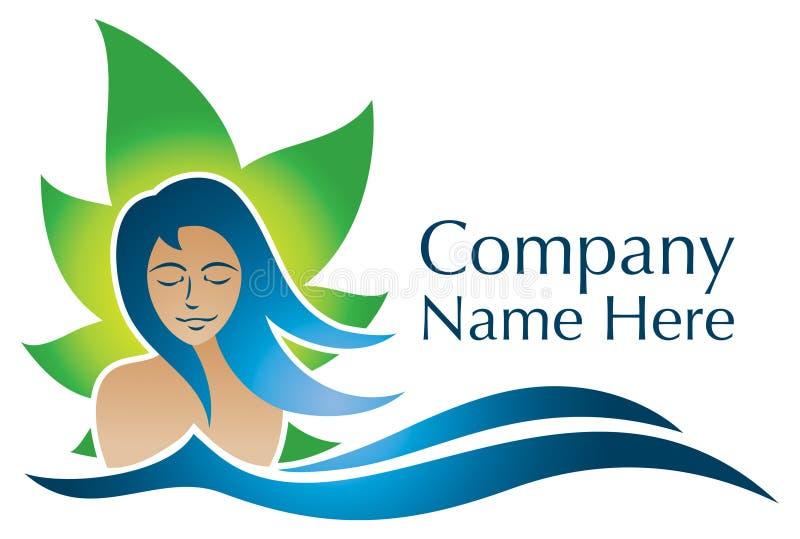 健康自然商标 皇族释放例证