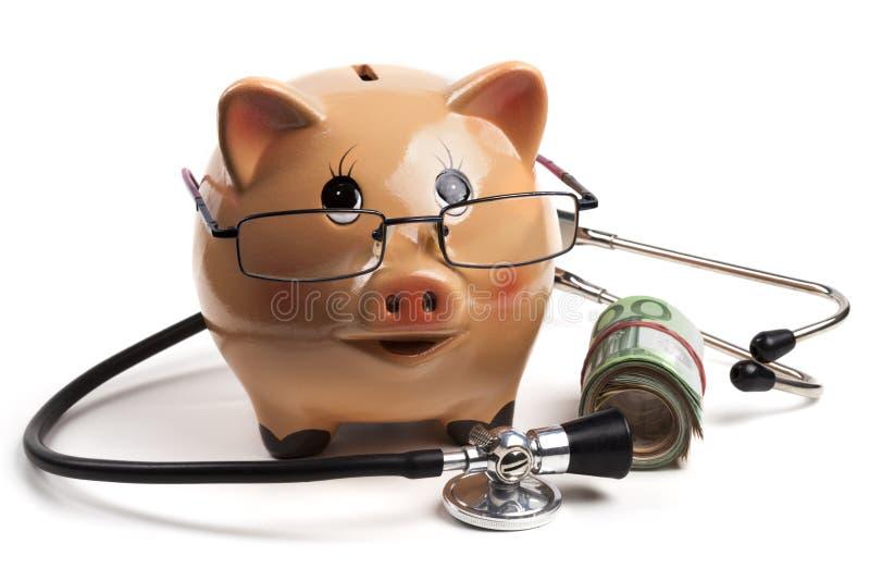 健康花费欧元 免版税库存图片