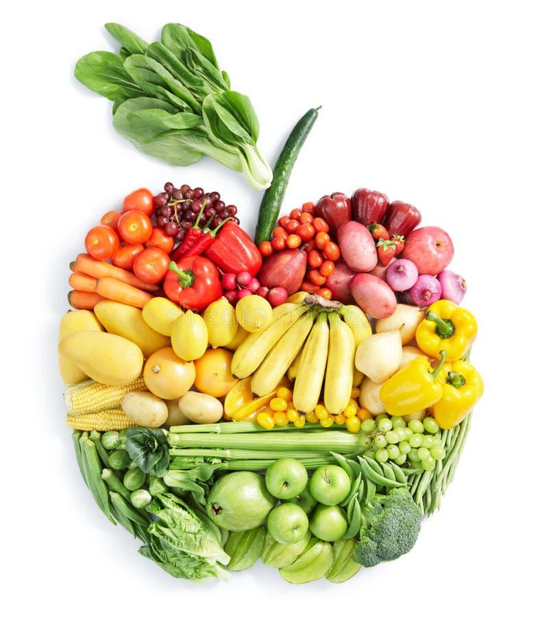 健康苹果的食物 库存图片