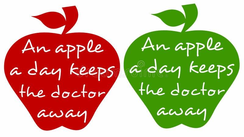 健康苹果 库存例证