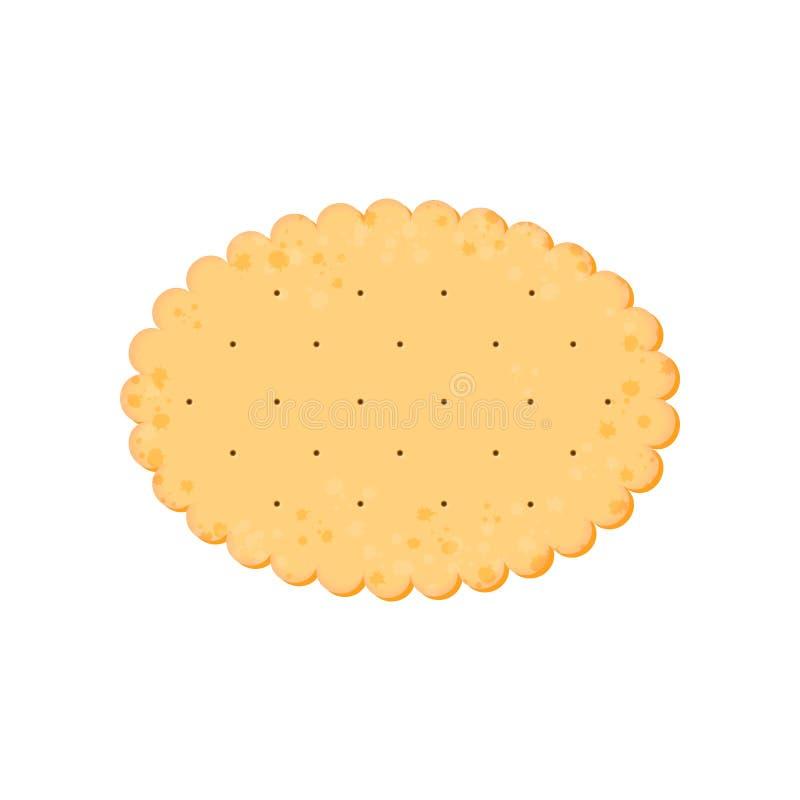 健康薄脆饼干 被隔绝的曲奇饼:椭圆 ?? 库存例证