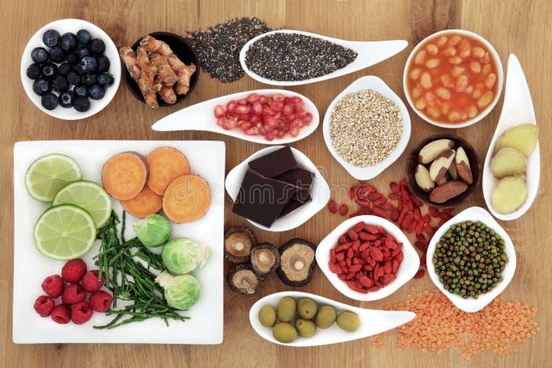 健康超级食物 图库摄影