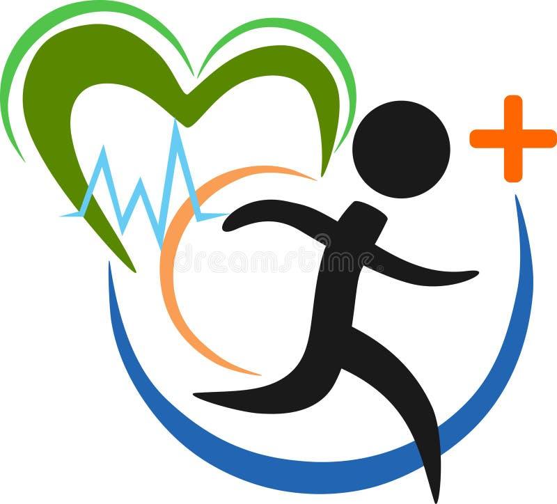 健康跑的例证和商标 库存例证