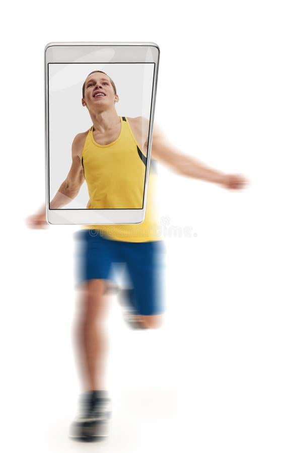 健康运动员赛跑 库存图片