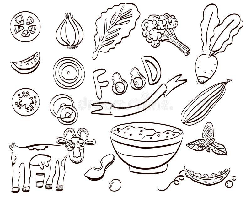 健康食品套象 r 皇族释放例证