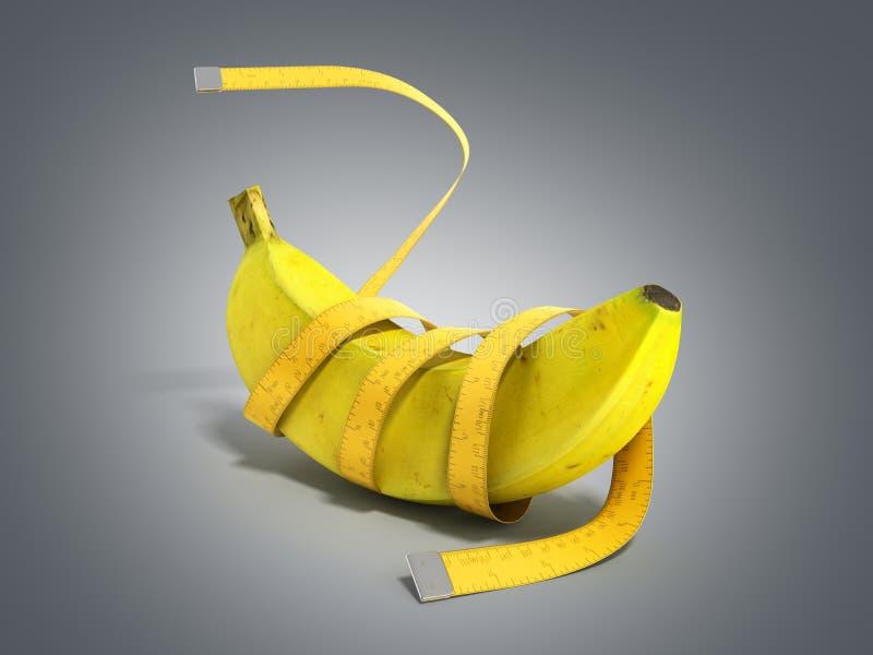 健康食物的3d概念在灰色梯度回报 皇族释放例证