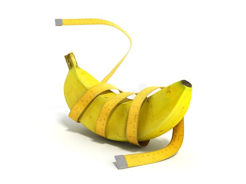 健康食物的3d概念在白色回报 库存例证