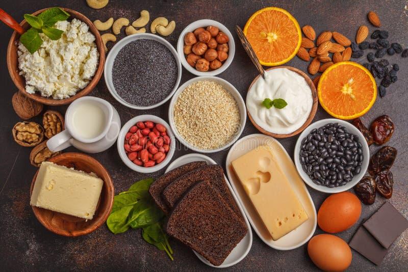 健康食物营养节食的概念 E 免版税库存照片