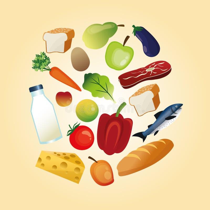 Download 健康食物设计 有机图标 colorfull例证 向量例证. 插画 包括有 向量, 餐馆, 牛奶, 农村, 设计 - 72370964