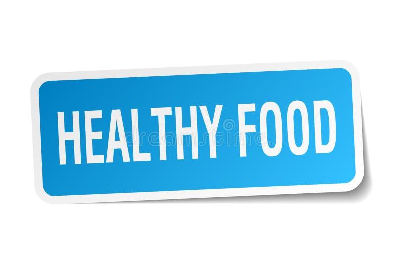 健康食物贴纸 向量例证