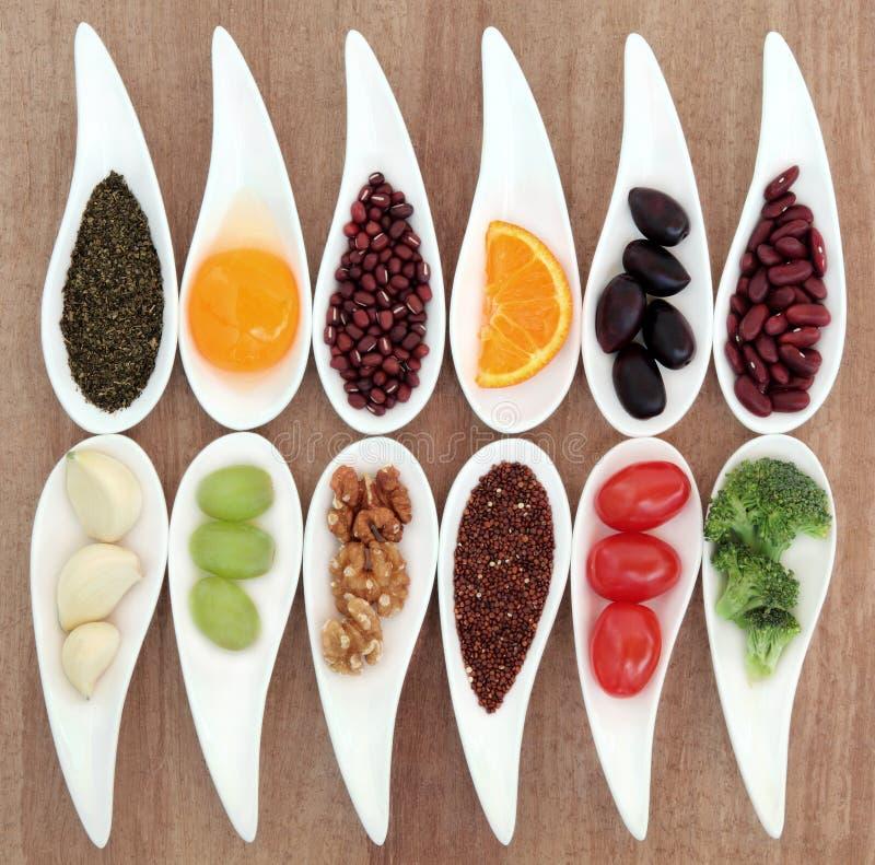 健康食物选择 库存照片