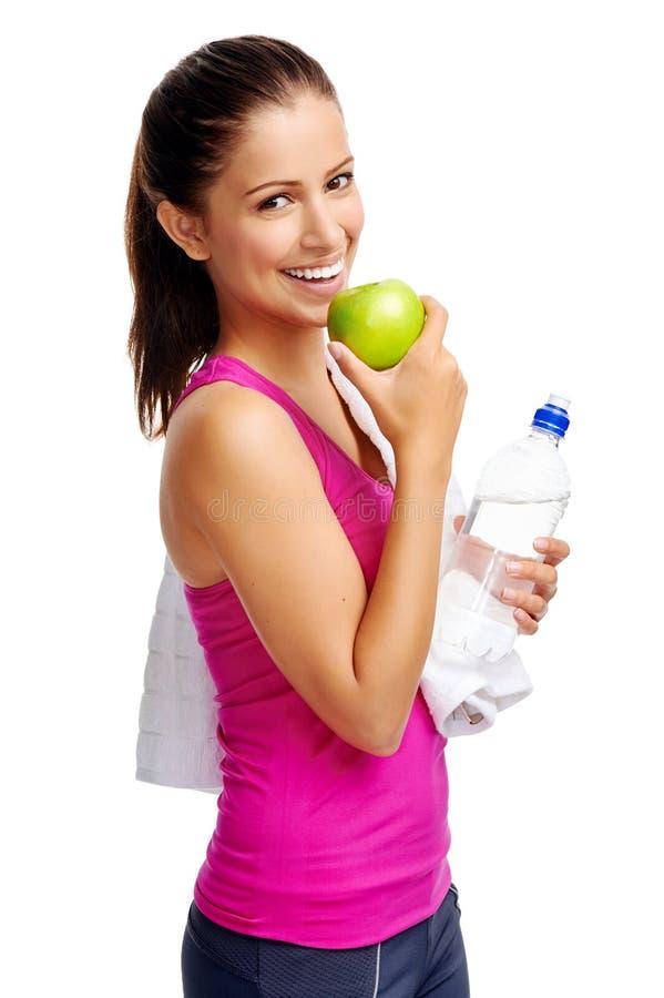 健康饮食妇女 免版税库存照片