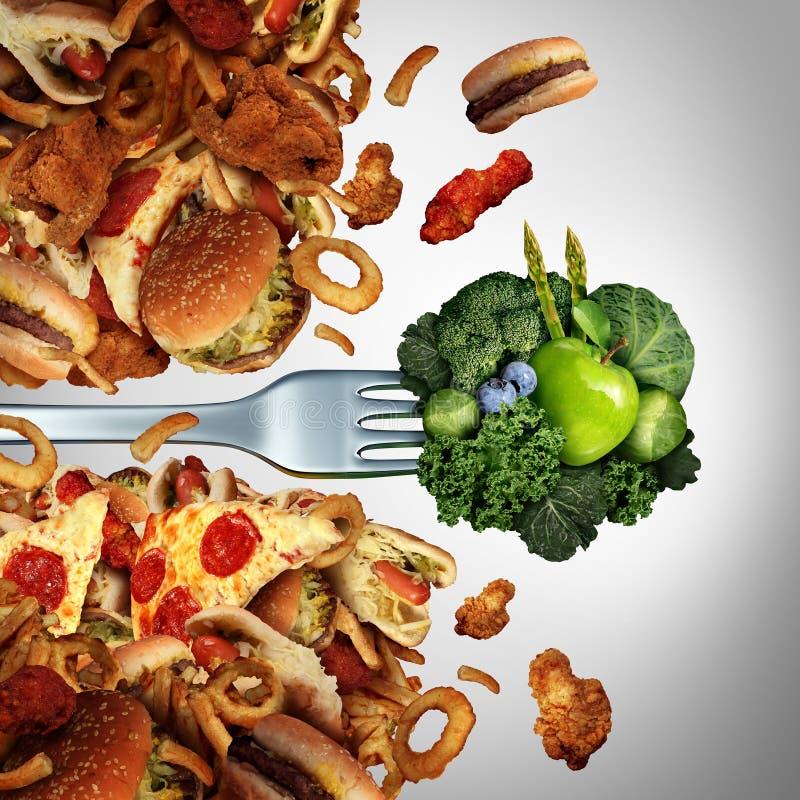 健康饮食突破 库存例证
