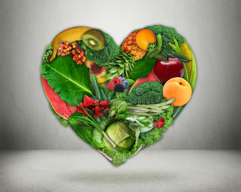 健康饮食选择和心脏健康概念 库存照片