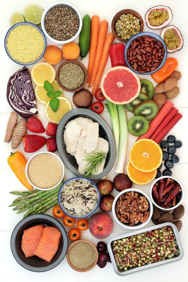 健康饮食食物选择 图库摄影