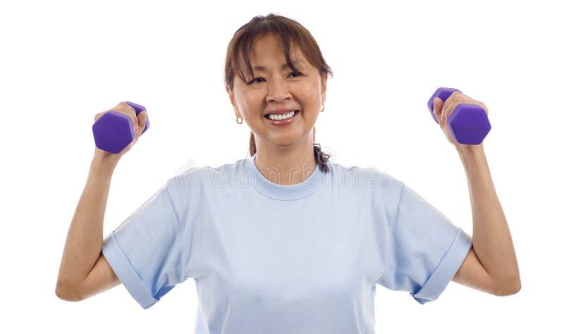 健康高级妇女 免版税库存图片