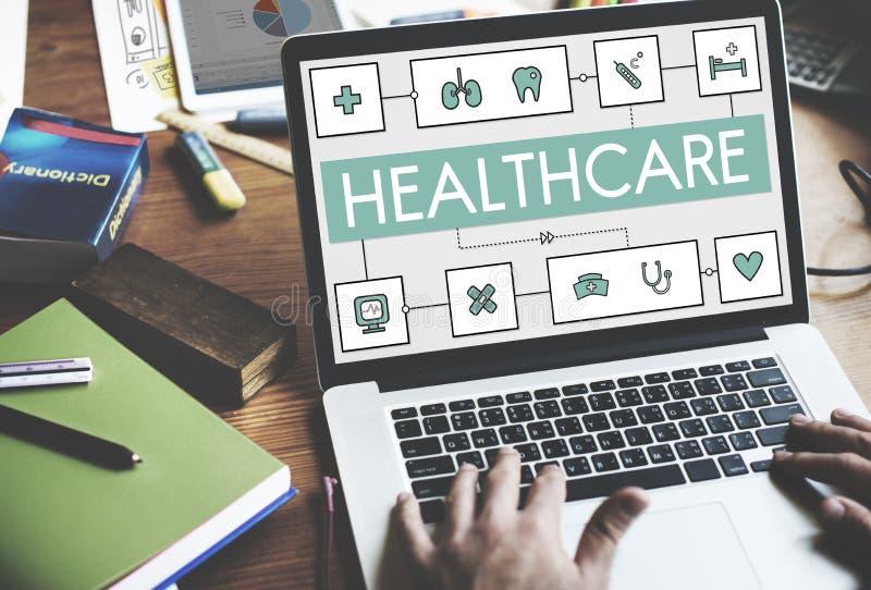 健康治疗医学医疗健康概念 图库摄影