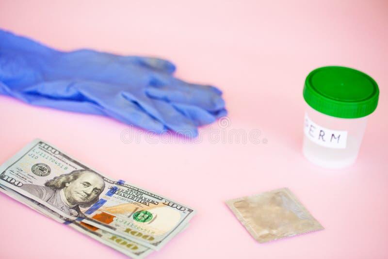健康 精液分析 银行精液的概念 不育 Doct 图库摄影