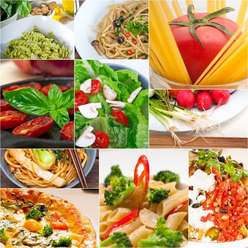 健康素食素食主义者食物拼贴画 免版税库存照片