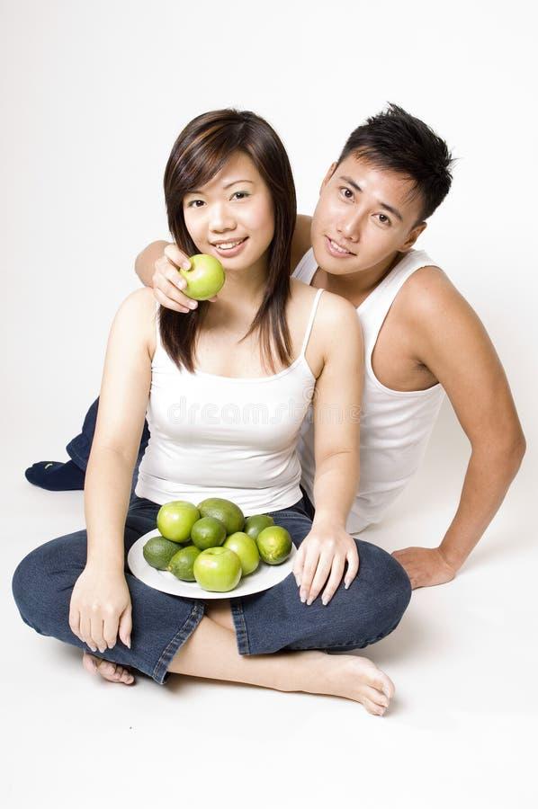 健康1对的夫妇 免版税图库摄影
