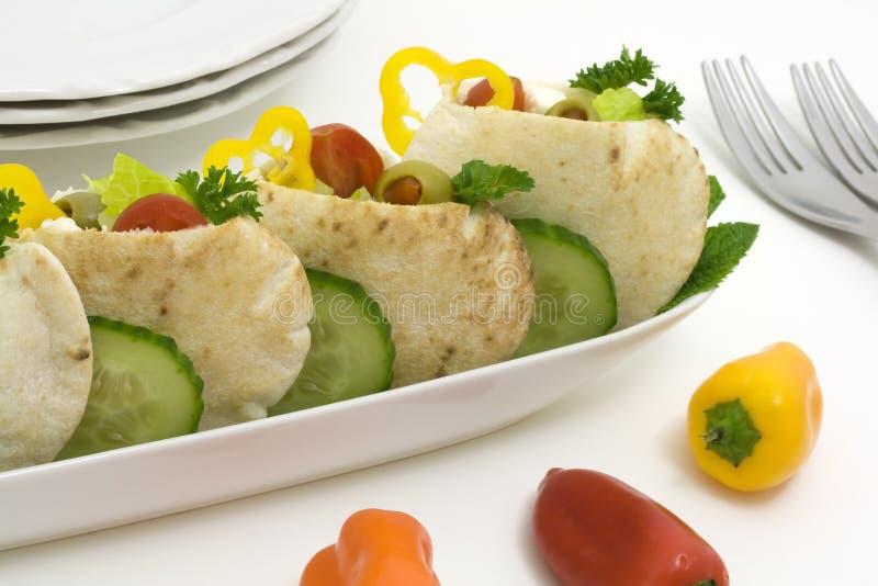 健康pita素食主义者 图库摄影