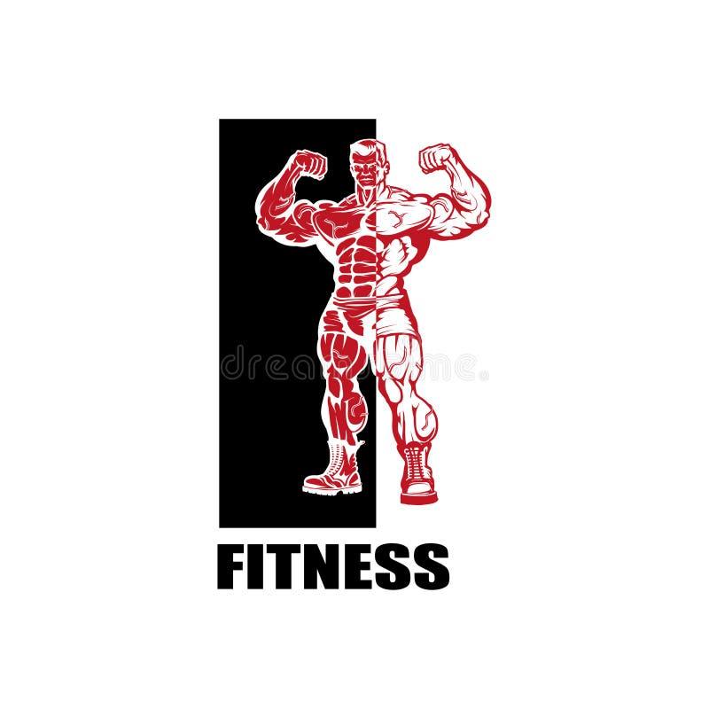 健身中心 健身房商标 向量例证