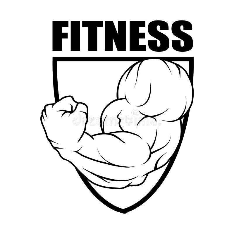 健身中心 健身房象征 健身商标 向量例证