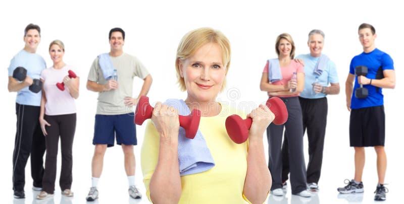 健身体操健康生活方式 免版税图库摄影